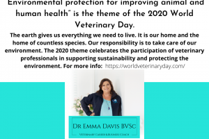 World Veterinary Day 2020 – 'Environmental protection for improving animal and human health'