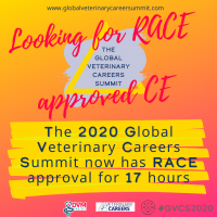 The 2020 Global Veterinary Career Summit now has Continuing Education hours approved by American Association of Registry of Approved Continuing Education (RACE®) program
